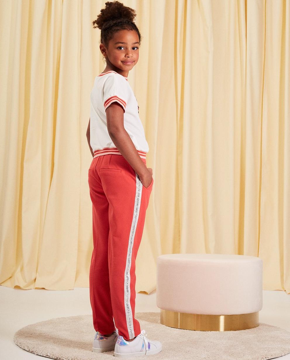 Pantalons - rood licht - Pantalon en viscose